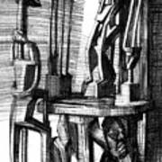 African Statues Art Print