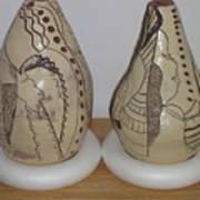 African Terracotta Gourds - View Three Art Print