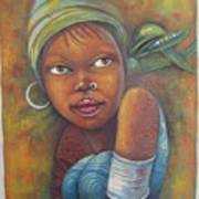 African Woman Portrait- African Paintings Art Print