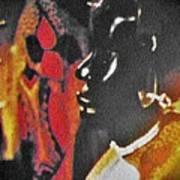 African Woman Statue Art Print