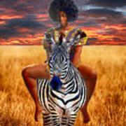 Afrikkan Princess  Art Print