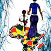 Afrique Walk Art Print
