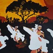 Afro Carib Dance Art Print