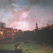 After Canal Grande Looking Northeast Art Print
