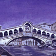 After Canal Grande With The Rialto Bridge Art Print