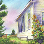 After School Activities At Monhegan School House Art Print