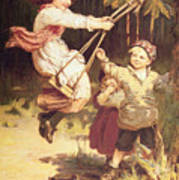 After School Art Print by Frederick Morgan