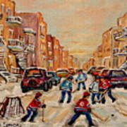 After School Hockey Game Art Print