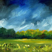 After Spring Rain Art Print by Linda L Martin