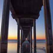 After Sunset At Scripps Pier Art Print