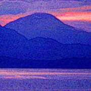 After Sunset Mountains 5 Pd Art Print