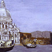 After The Grand Canal And The Church Of The Salute Art Print