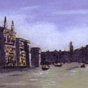 After The Grand Canal From Campo San Vio Near The Rialto Bridge Art Print