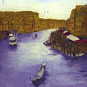 After The Grand Canal From The Rialto Bridge Art Print