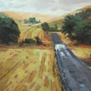 After The Harvest Rain Art Print