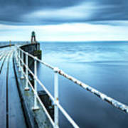 After The Shower Over Whitby Pier Art Print