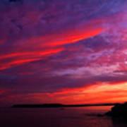 After The Storm Sunset Art Print