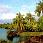 Afternoon At Mauna Lani Hawaii Art Print