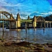 Afternoon At Siuslaw River Bridge Art Print