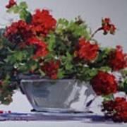 Afternoon Geraniums Art Print