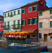 Afternoon Stroll In Murano  Art Print