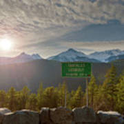 Afternoon Sun Over Tantalus Range From Lookout Art Print