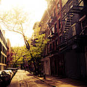 Afternoon Sunlight On A New York City Street Art Print by Vivienne Gucwa