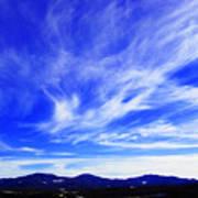 Afton Sky And Mountains I Art Print