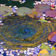 Agape Gardens Autumn Waterfeature Art Print
