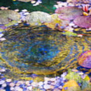 Agape Gardens Autumn Waterfeature II Art Print