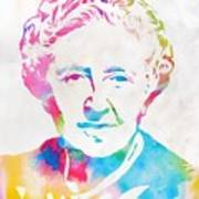 Agatha Christie Watercolor Tribute Art Print
