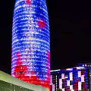 Agbar Tower In Barcelona Art Print