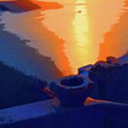 Agean Sunset Art Print
