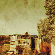 Aged Australia Countryside Scene Art Print