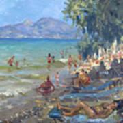 Agrilesa Beach Athens  Art Print