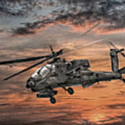 Ah-64 Apache Attack Helicopter Art Print by Randy Steele