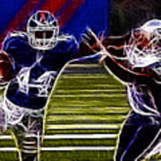 Ahmad Bradshaw Art Print by Paul Ward