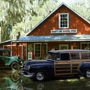 Air Brushed Woody At Country Store Art Print
