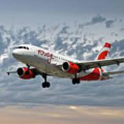 Air Canada Rouge Airbus A319 Art Print