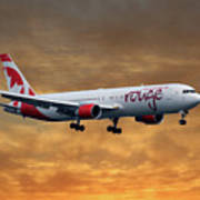 Air Canada Rouge Boeing 767-333 2 Art Print