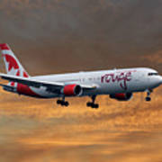 Air Canada Rouge Boeing 767-333 3 Art Print
