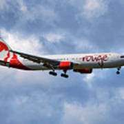 Air Canada Rouge Boeing 767-35h 118 Art Print