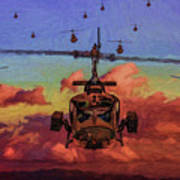 Air Cavalry Bell Uh-1 Huey  Art Print