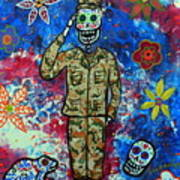 Air Force Day Of The Dead Art Print