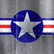 Air Force Logo On Riveted Steel Plane Fuselage Art Print