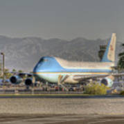 Air Force One In Palm Springs Art Print