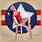 Air Force Pinup With Calypso Jean Art Print