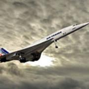 Air France Concorde 115 Art Print
