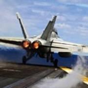 aircraft military F 18 Hornet Art Print