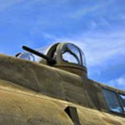 Aircraft Top Machine Gun Art Print